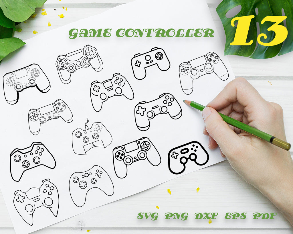 GAME CONTROLLER SVG/ joystick svg/ ps4/ playstation/ Clipart/ Silhouette/ Printable/ Cut Files/ cricut/ Instant Download
