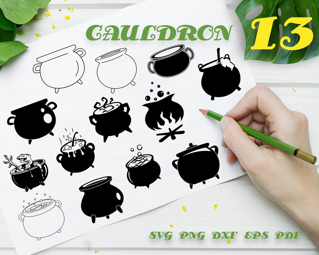Cauldron svg, Cauldron svg, halloween svg, cauldron monogram, cauldron eps, witches brew, all hallowes eve, witch svg, cauldron dxf, cauldron cut file