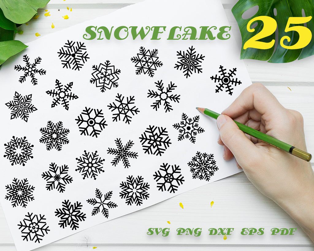 SNOWFLAKE SVG, Winter Svg, Christmas SVG, Silhouette Cut Files, Cricut Cut Files, Vector, Clipart, Decal, Stencil, Vinyl, Digital Design, Instant Download