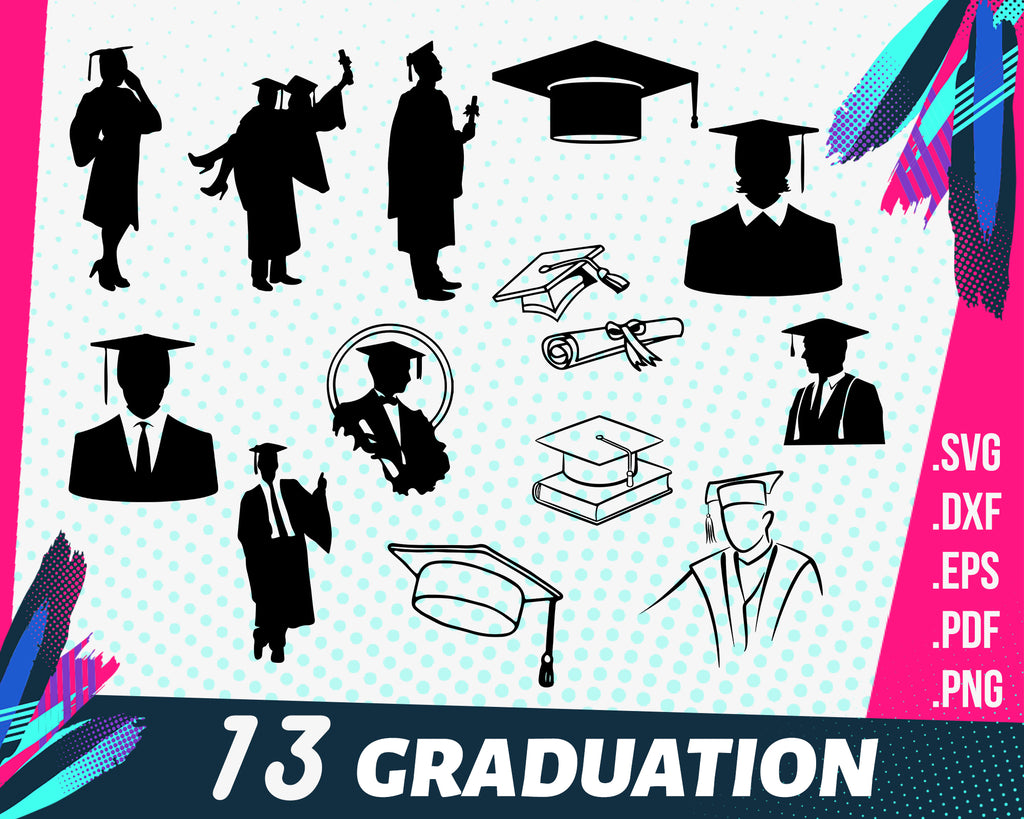 University svg, Graduation SVG File, Graduation Hat SVG, Student SVG, University students Svg, Graduation Clipart, Graduation Clip Art, Svg University