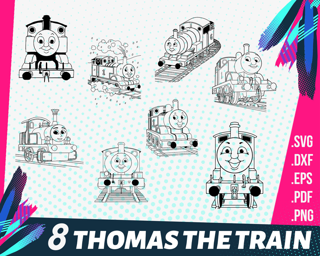 Thomas the train svg, Thomas The Train SVG | Thomas The Train DXF | Thomas The Train SVG Collection | Svg Files for Silhouette Cameo or Cricut