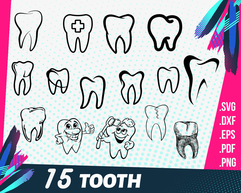 TOOTH SVG, teeth svg, dentist svg, dental svg, dentist tooth svg, tooth monogram svg, first tooth svg, tooth cut file, tooth dxf, outline