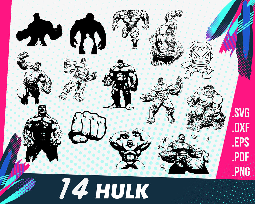 Hulk SVG, Superheroes SVG, Hulk clipart, Hulk vector, Hulk files for Cutting Machines svg pdf dxf png