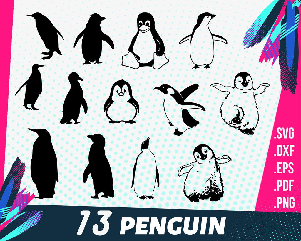 Penguin svg, Penguin SVG Bundle, Penguin SVG, Penguin Clipart, Penguin Cut Files For Silhouette, Files for Cricut, Vector, Svg, Dxf, Png, Eps, Design