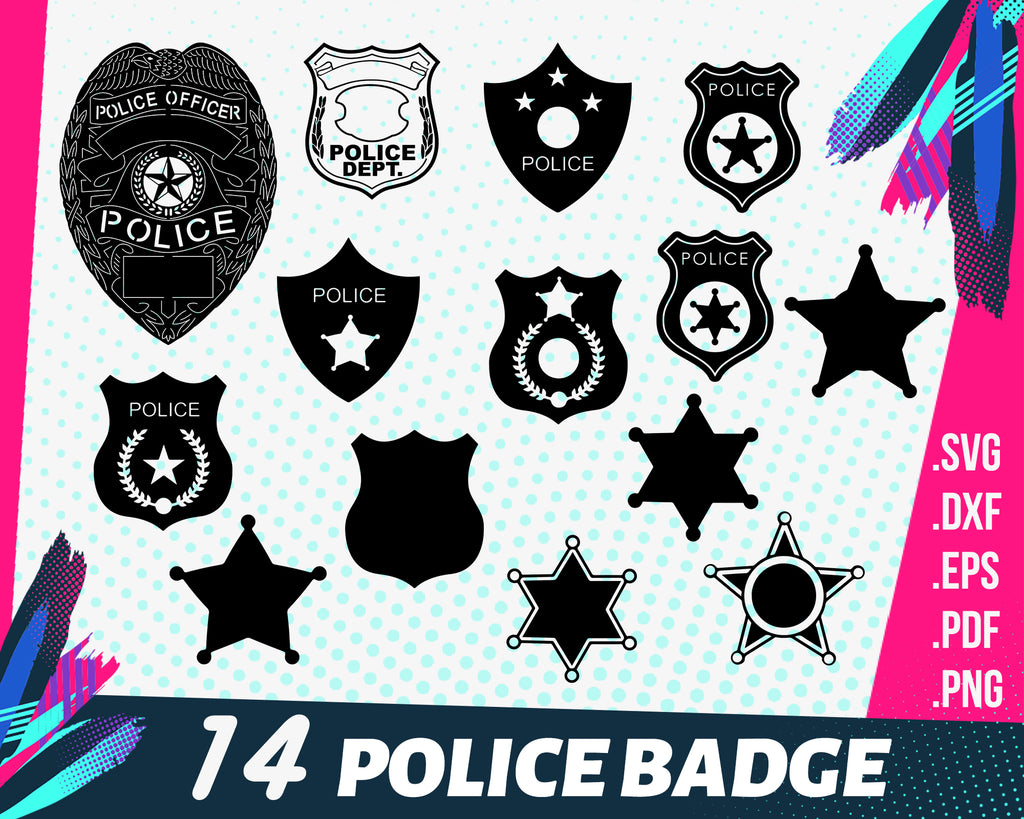 Police badge svg, Police Badge SVG, Police Badge Vector,Police Badge File for Cricut, svg files for cricut