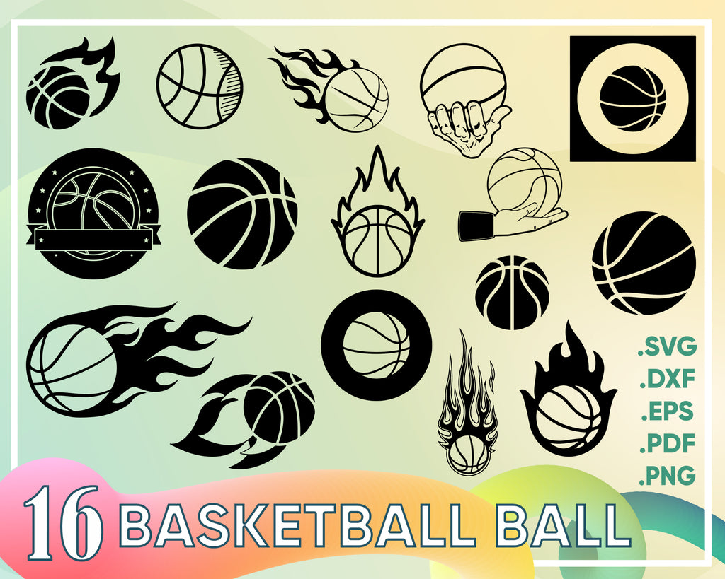 Basketball ball svg, basketball svg file, svg file, dxf file, sports svg file, ball graphic elements svg, vector eps, dxf, file, png, jpg, cut file, silhouette
