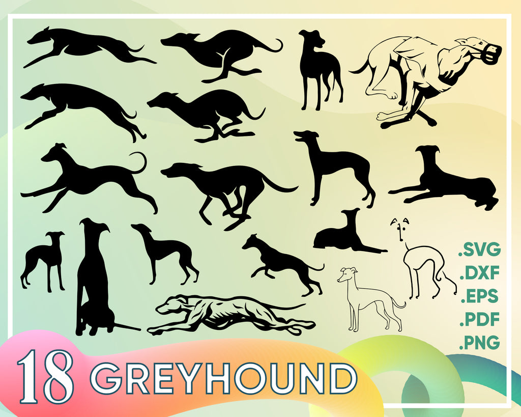 Greyhound svg, Greyhound dog svg, dog svg, dog monogram svg, dog svg files cricut, dog svg cut files, dog svg image, dog svg design, svg bundle, eps
