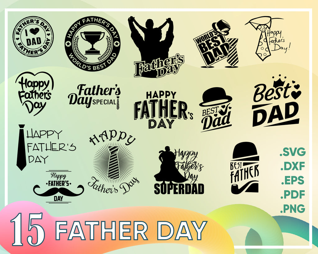 Father day svg, Father's Day SVG Bundle, Father Day Svg, Dad Svg, Fathers Day Svg, Superdad Svg, Daddy Svg, Love Dad Svg files for Cricut and Silhouette.