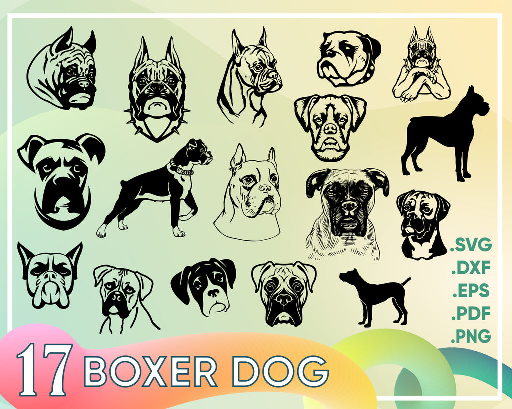 Boxer Dog svg,Boxer svg, Dog breed, Dog dad, cute animal face, head, peeking, Clipart, Vector, Cricut, shirt design, Download, PNG, dxf, printable