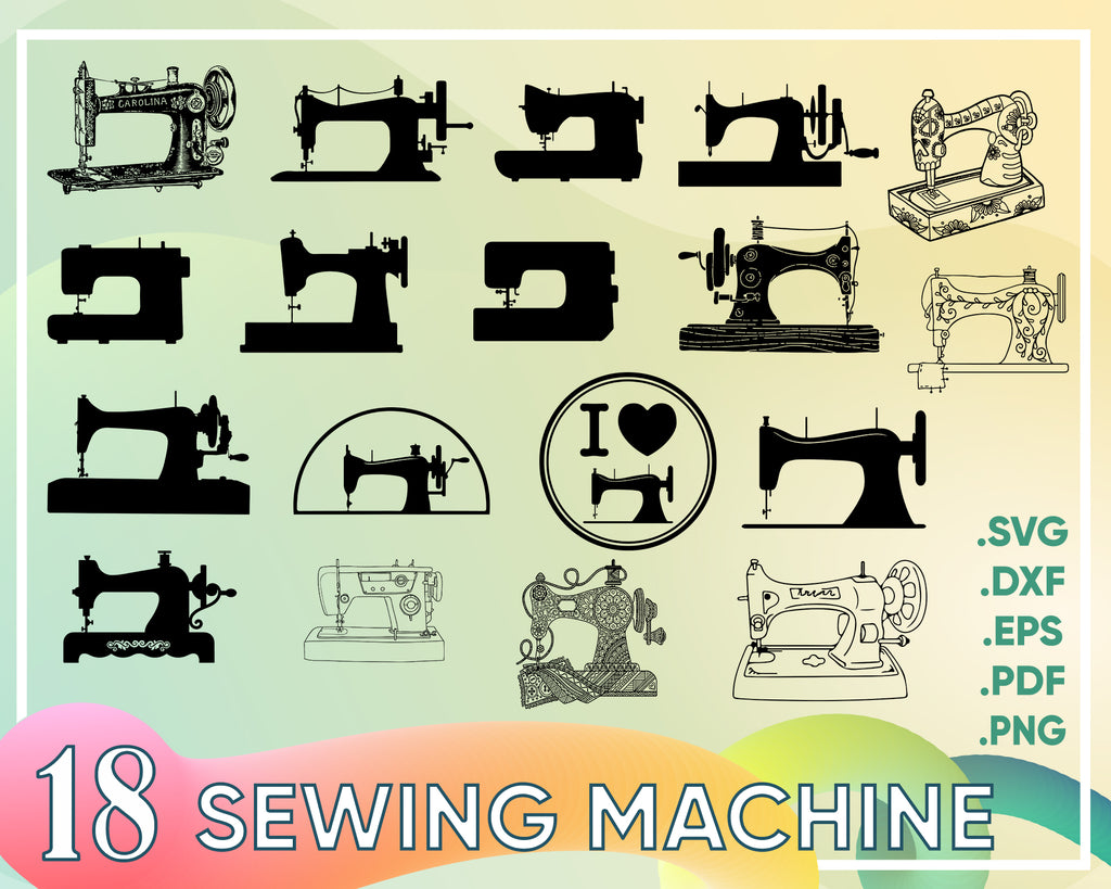 Sewing machine svg, Sewing SVG - Sewing Machine SVG - Sewing Subway Art - Digital Cutting File - Cricut Cut - Instant Download - Svg, Dxf, Jpg, Eps, Png