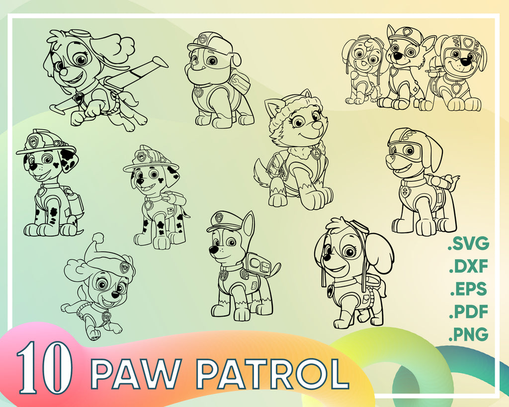 Paw Patrol svg, Chase Paw Patrol SVG download, Paw Patrol SVG cutting file, Silhouette Cameo, Sillhouette Studio DE does not work with Cricut