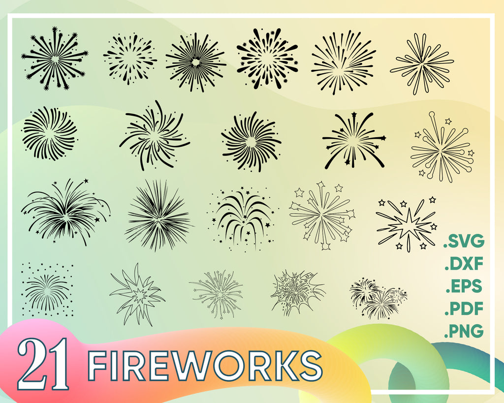 Fireworks svg, Fireworks SVG / Fireworks Cricut / Cut Files / Clipart / Silhouette / Vector