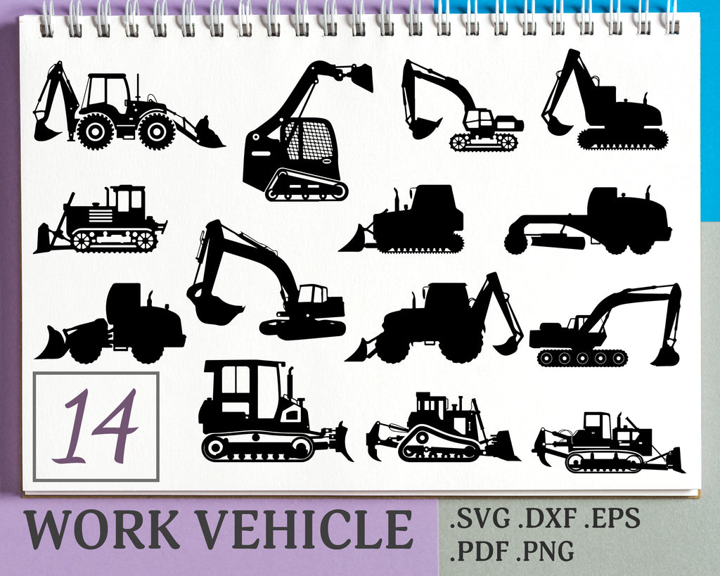 Work Vechicle Svg Work Vehicle Work Vehicles Silhouette Svg File Clipartic