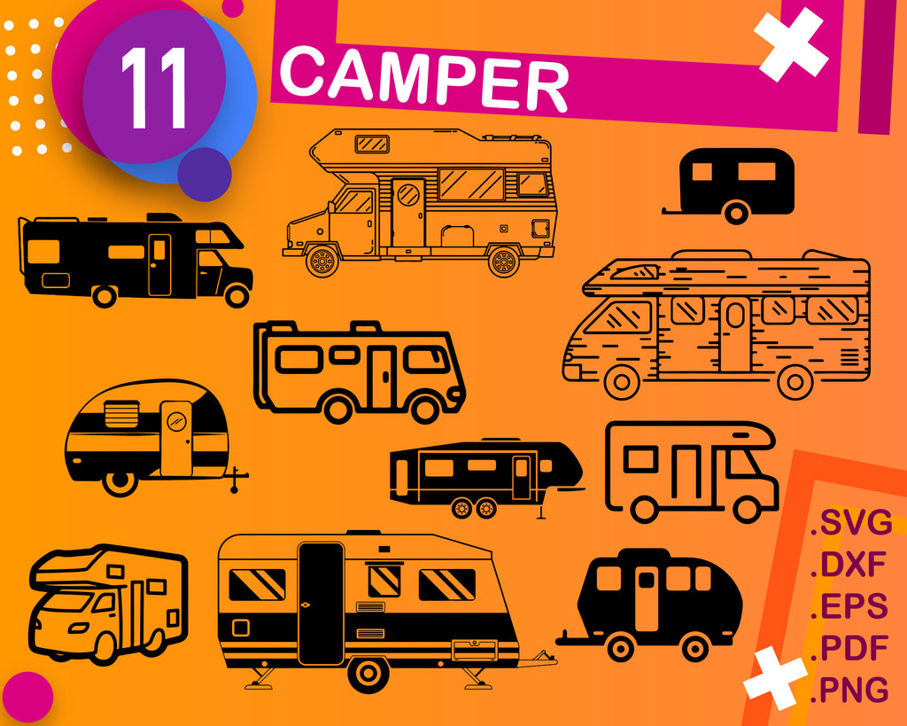 Camping Bundle SVG, Camping SVG, Camp SVG, Happy Camper Svg, Let the Adventure Begin Svg, Camp Life Svg, Camping Quote, Camp Sayings