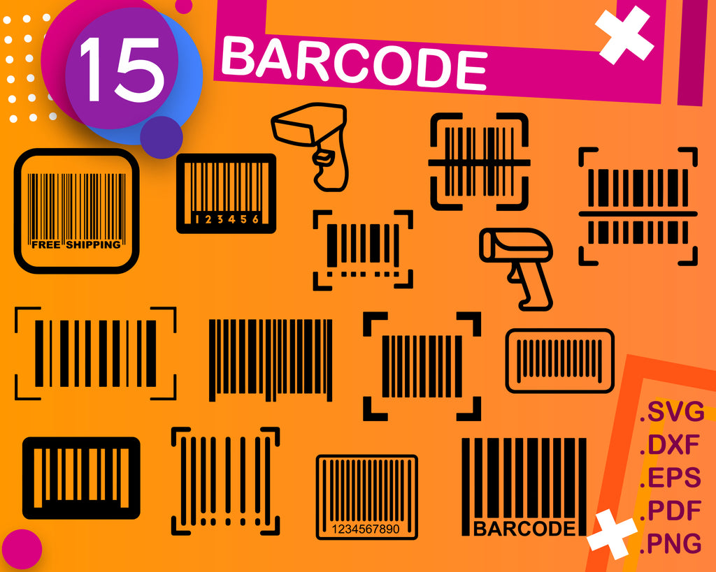 Bar Code SVG, Bar Code SVG, Shopping Svg, Bar Code Clipart, Bar Code Files for Cricut, Bar Code Cut Files For Silhouette, Dxf, Png, Eps