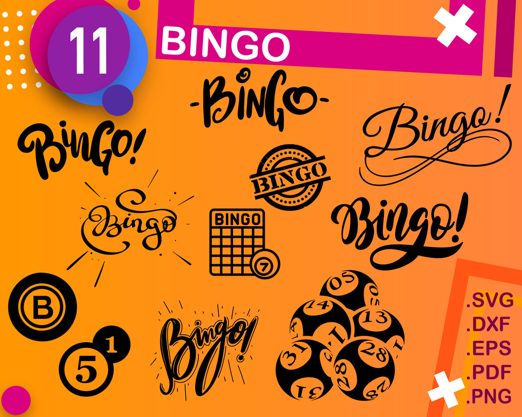 Bingo Svg Files, Bingo Dxf Cut File, Bingo Vector Files, Bingo Clipart, Bingo Svg Cutting File, Bingo Silhouette Svg, Bingo Download