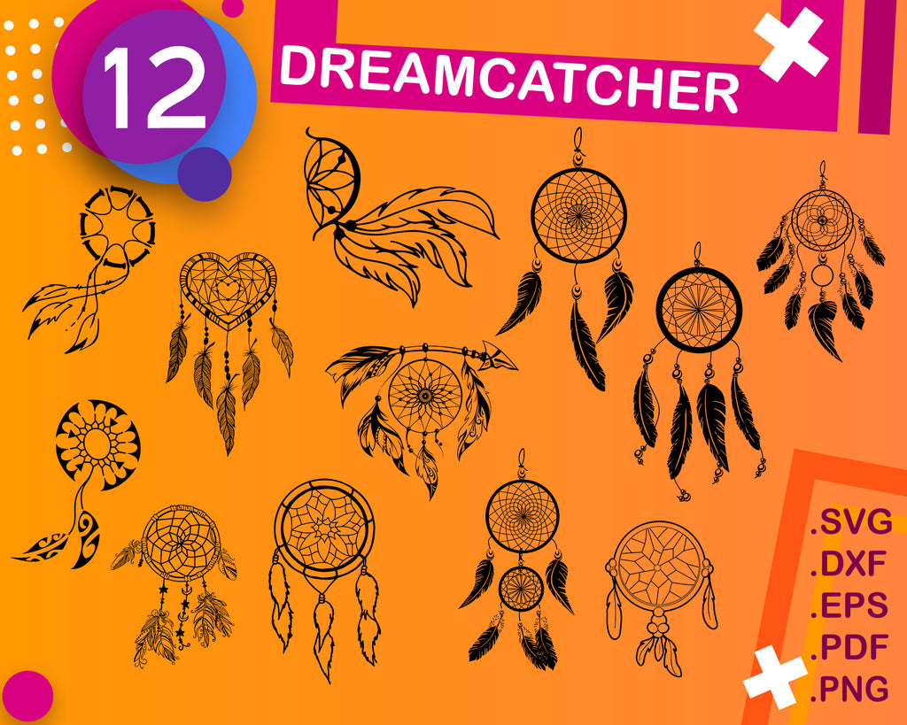 Dreamcatcher Svg Monogram, Feather svg, Indian svg, Dreamcatcher Clipart, Dreamcatcher svg, Feather Silhouette, Native American svg