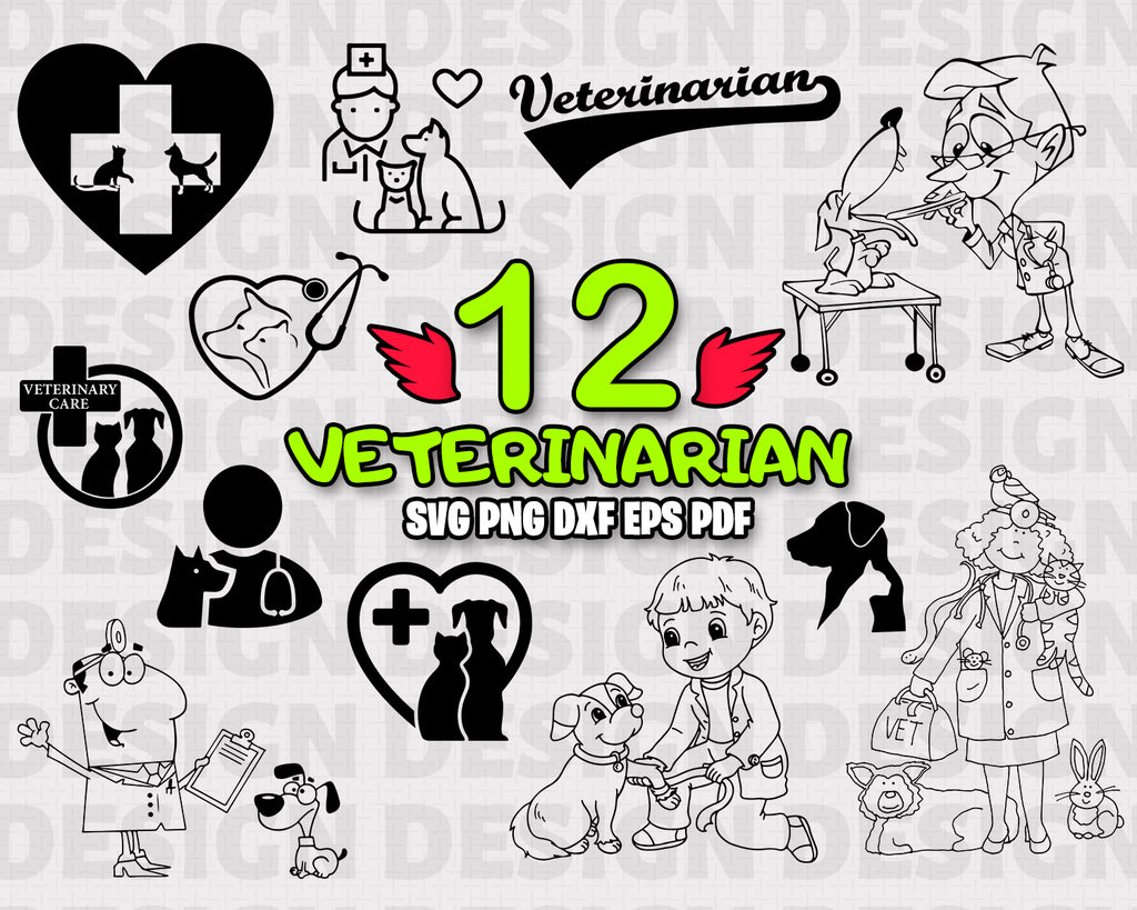 Veterinarian SVG / Vet Tech SVG / Stethoscope Paw Print / Animal Lover / Vector / Cutting File / Cricut / Silhouette / Graphic / Clip Art