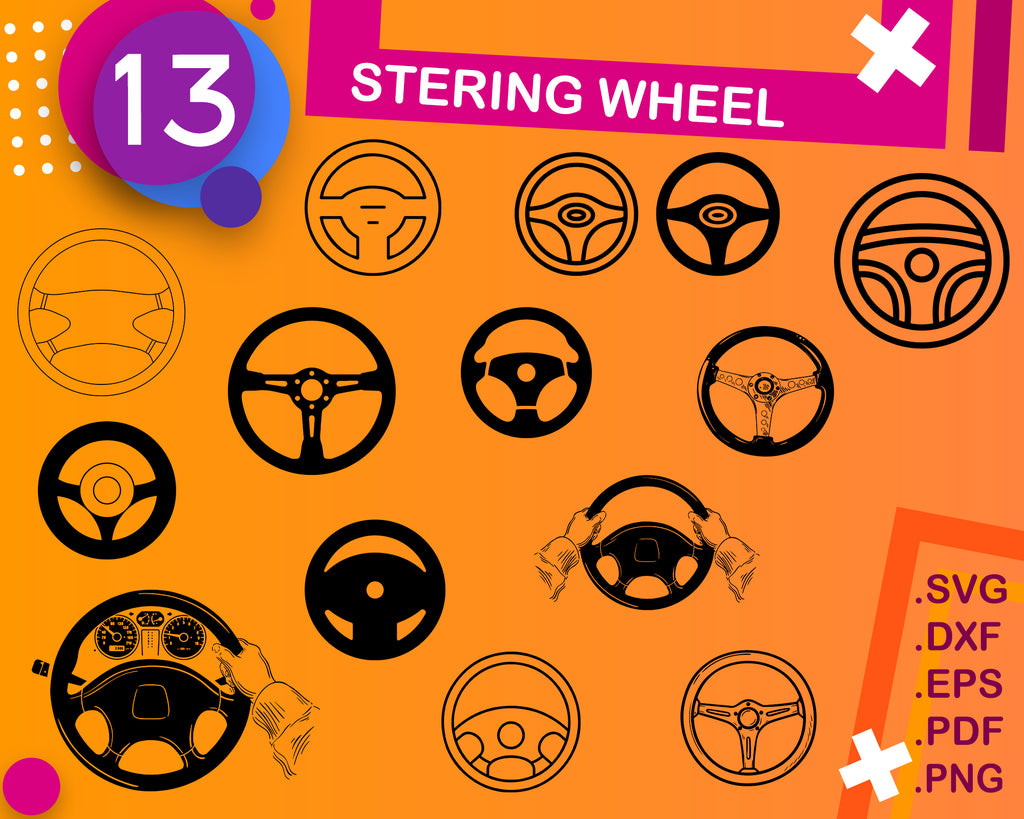 Stering wheel svg, Steering wheel svg/car clipart/steering wheel svg/car steering wheel silhouette/cricut cut files/clip art/digital download svg/eps/png