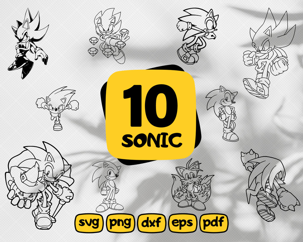 Sonic svg,SONIC SVG, svg files, sonic clipart, sonic cut file, sonic silhouette, sonic cricut, sonic stencil