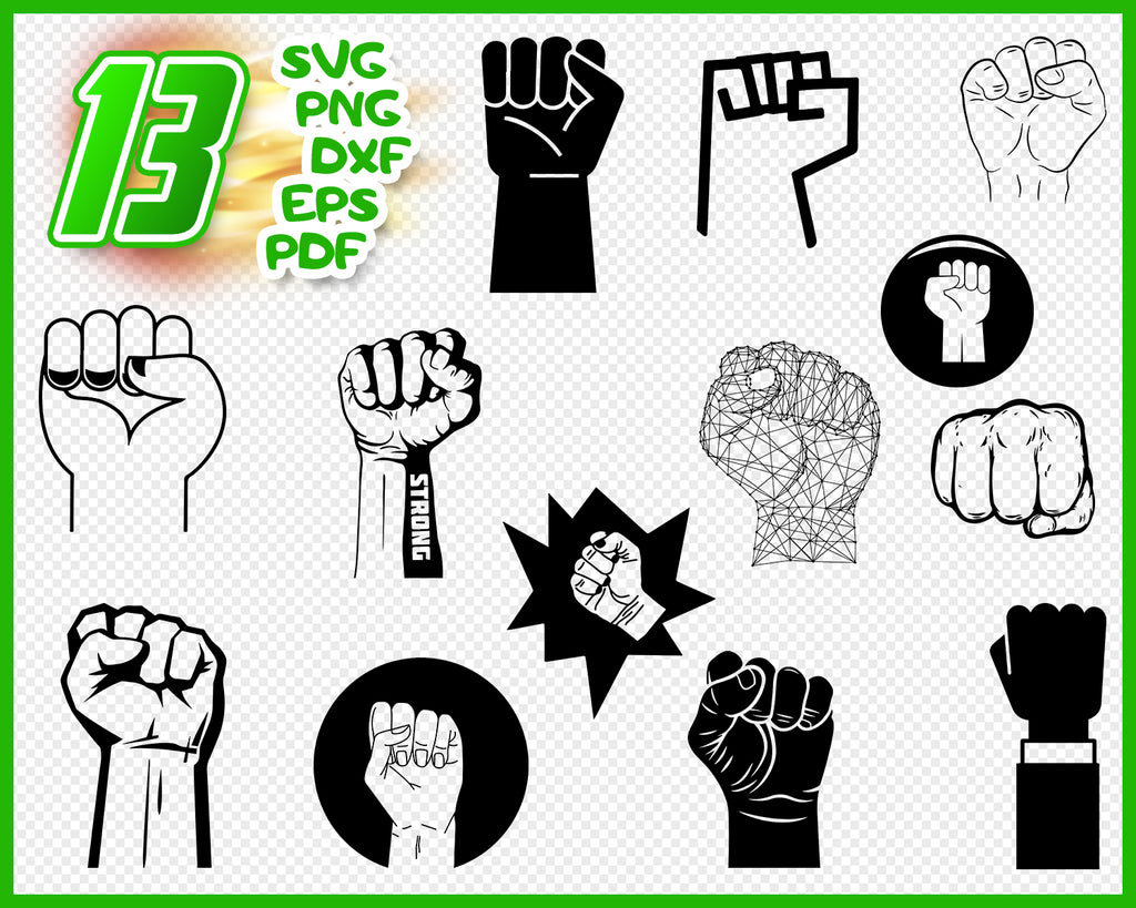 Raised fist svg, fist svg, fist symbol svg, power fist svg, fist clipart, revolution svg, fist bump svg, raised fist, fist silhouette file