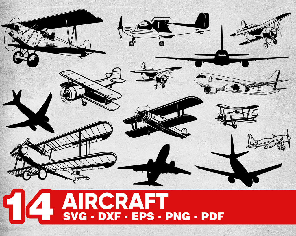 Aircraft svg, Airplane SVG, Aircraft SVG, Airplane Clipart, Airplane Files for Cricut, Airplane Cut Files For Silhouette, Dxf, Png, Eps