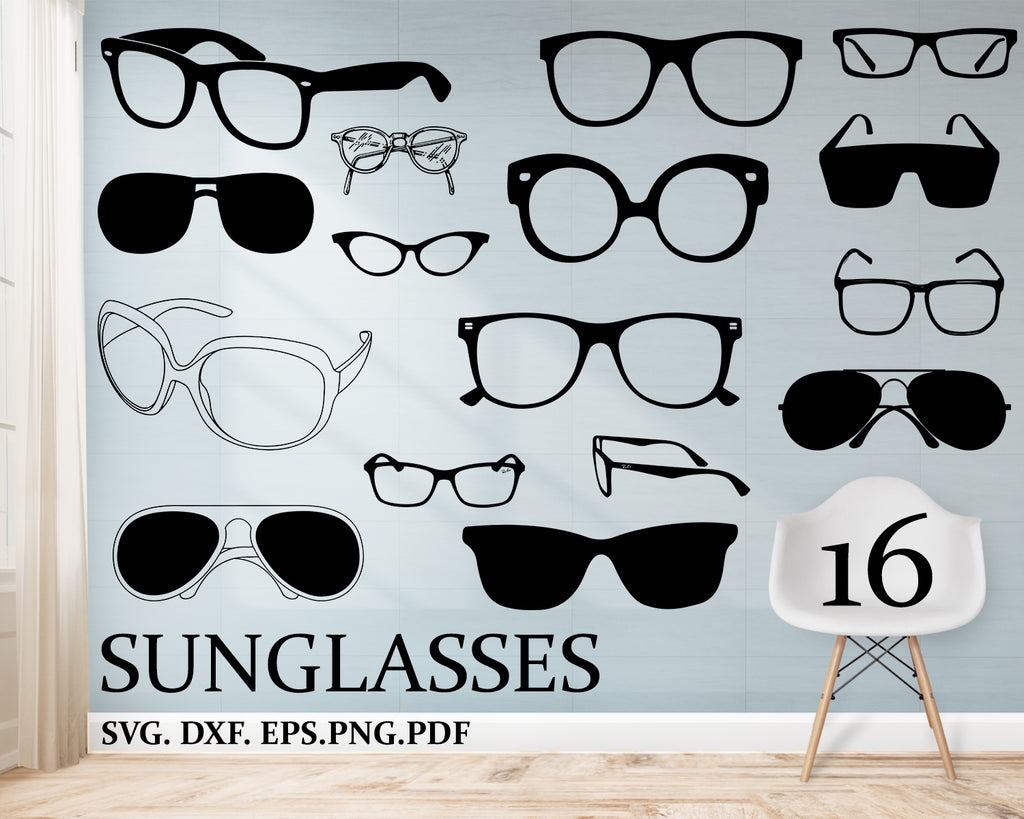 SUNGLASSES svg, Aviator Sunglasses, Aviators, Sunglasses Silhouette Shape, Cut File for Cricut, Sunglasses Clipart, Download, Silhouette