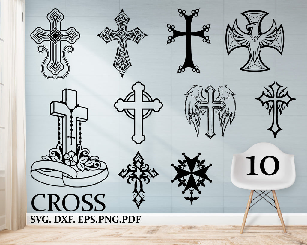 Cross svg, Cross clipart, Crosses svg file, Christian svg, Cross silhouette, Cross cricut, Cross cut file, Catholic svg