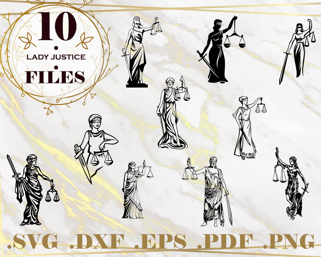 LADY JUSTICE SVG, justice svg, gavel svg, law svg, court svg, holidays, tribunal svg, Cricut, Cameo, Silhouette, Vinyl, Decal, stencil, clipart, dxf, Instant Download