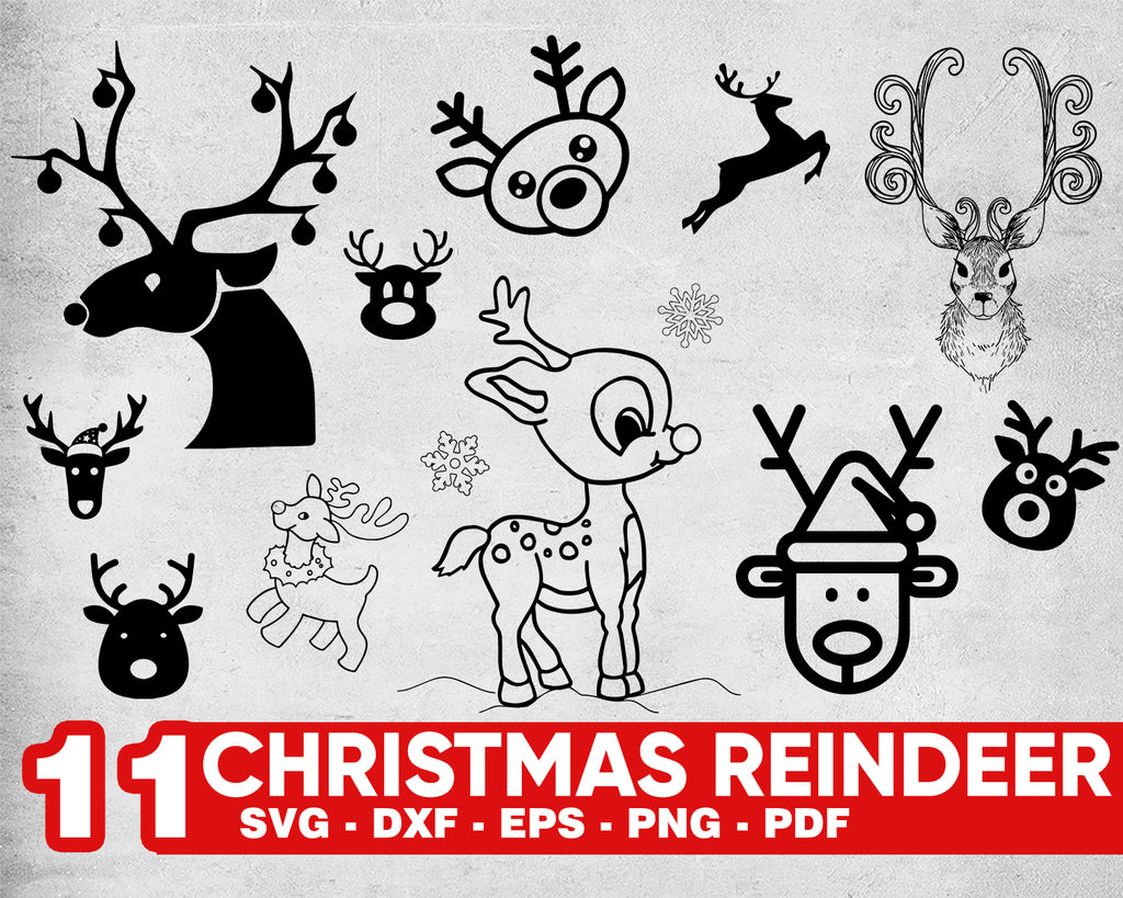 Christmas reindeer svg, Christmas Reindeer SVG, Merry Christmas Clipart, Girls christmas shirt design, Merry Bright SVG Htv Cut File Cricut Silhouette dxf Christmas
