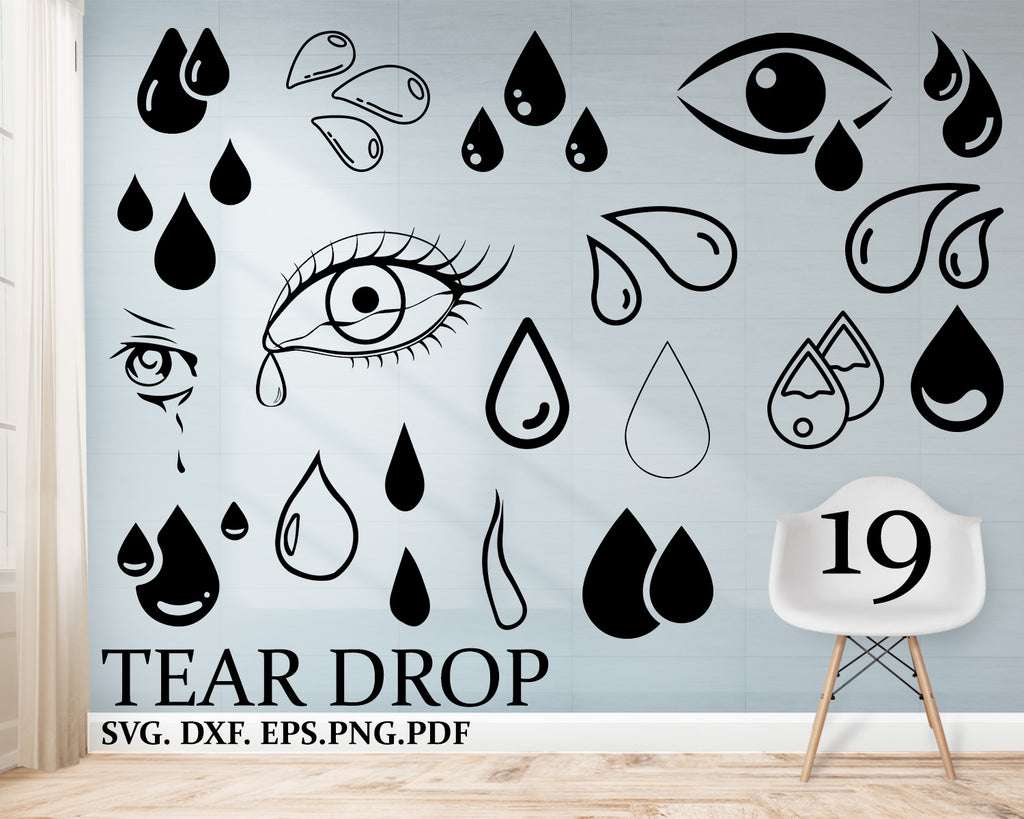 Tear Drop svg, Water drop svg, rain drop svg, teardrop svg, water droplet svg, rain svg, raindrop clipart, droplet svg, splash svg, tears svg, drops dxf
