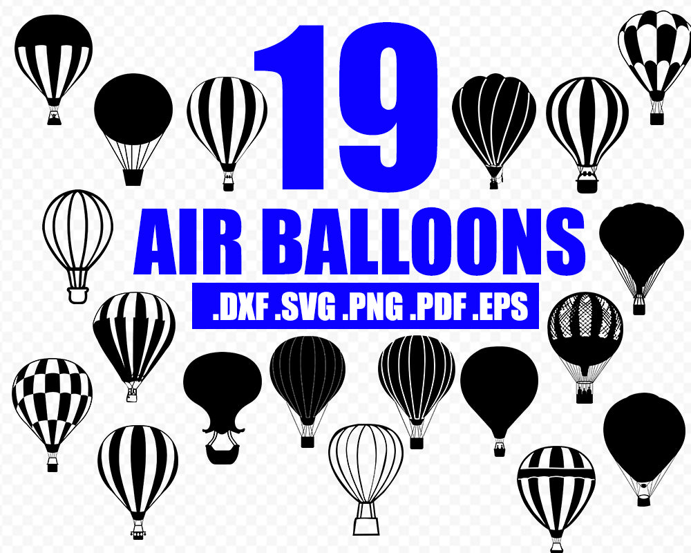HOT AIR BALLONS svg, Balloon svg, Air balloon vinyl design, hot air balloons download, Dxf, eps, png, Svg, clipart, silhouette download