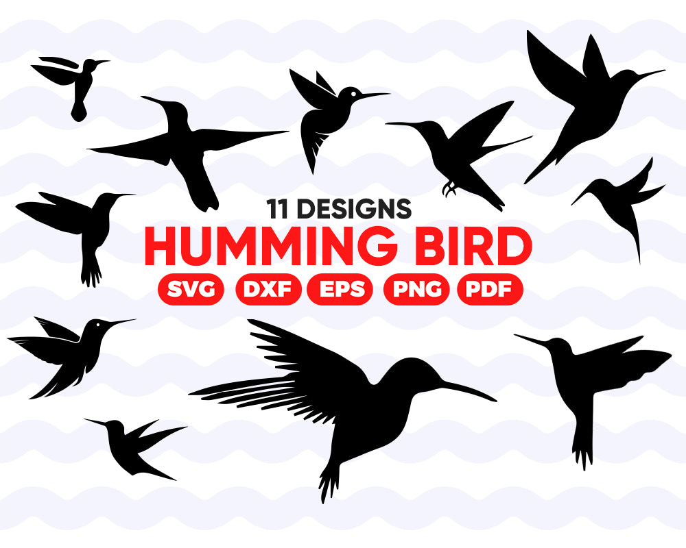 HUMMING BIRD SVG/ flying bird svg/ bird svg file/ bird silhouette/ wildlife/ clipart/ stencil decal/ cut files/ cricut/ animals/ instant download