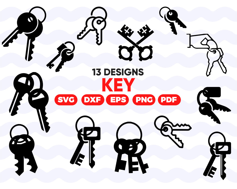 KEYS SVG, key svg, key clipart, lock svg, key silhouette, keys svg, key cut file, key clip art, svg files for cricut, svg file, instant download