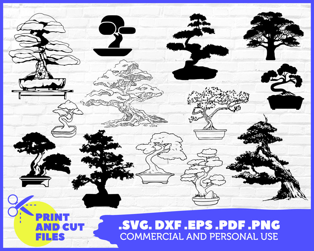 Bonsai Tree Printable Clipart Svg Cutting File Vinyl Crafts Dig Clipartic