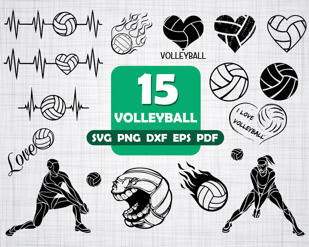 Cut files Volleyball svg Volleyball vector Volleyball Digital clipart for Design png Print or more Instant files download svg dxf
