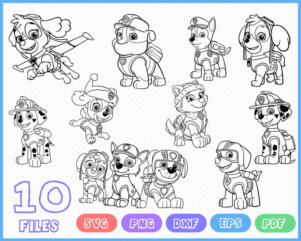 Paw Patrol Svg Head Badges Cricut Silhouette Cut File Vector Vi Clipartic