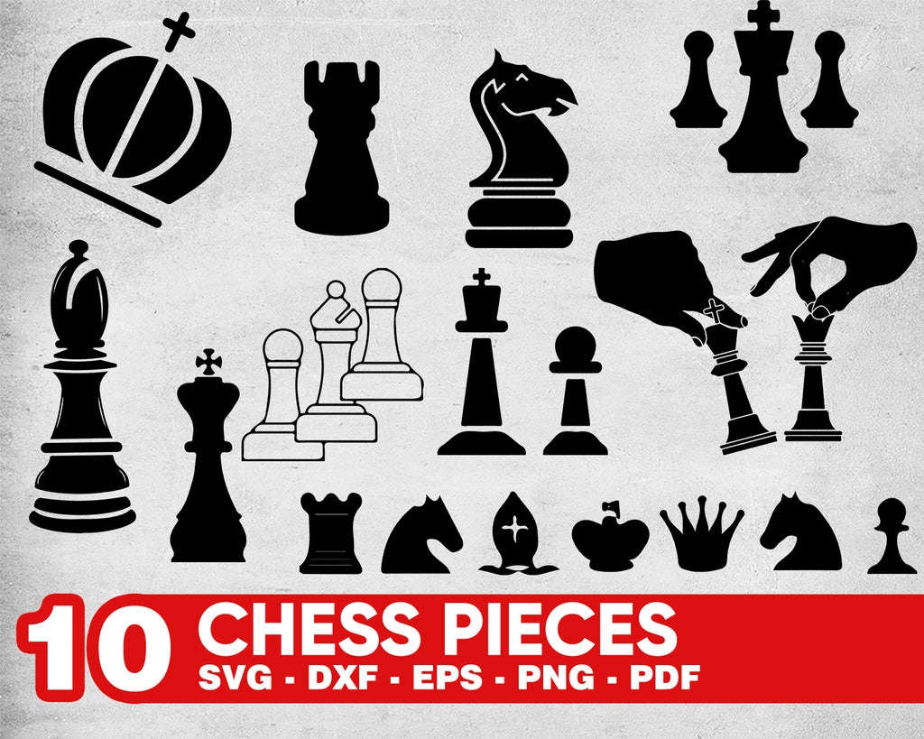 CHESS PIECES SVG, chess game, chess table, chess challenge, table game svg, clipart, stencil, vinyl cut files, cricut silhouette
