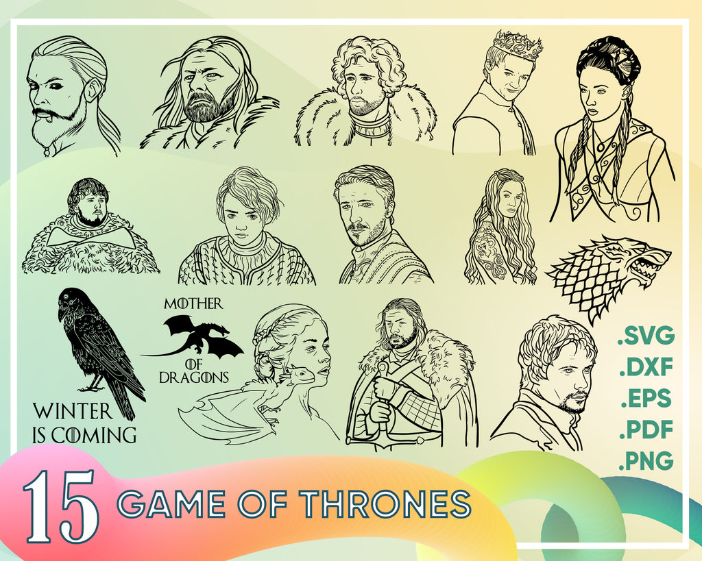 Game of thrones svg, Game of Thrones SVG - Game of Thrones Sigils: Stark , Baratheon , Lannister , Greyjoy , Targaryen , Mormont , Tully , Dragon - GOT logo svg