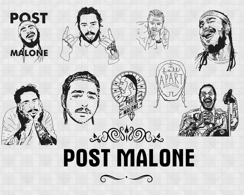 Post Malone Svg Post Malone Customized Graphic For Shirts Onesies Clipartic