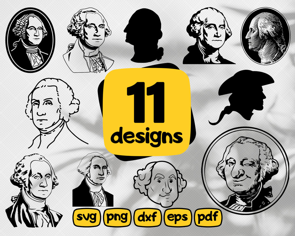 George Washington SVG, President svg, 4th of july svg, washington svg, america svg, patriotic svg, george svg, washington cut file, stencil, files for crafters