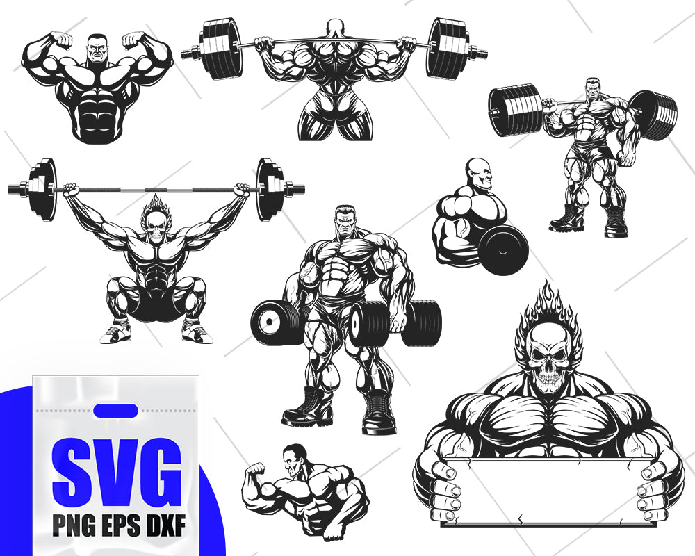 BODYBUILDER SVG, bodybuilder, fitness svg, gym svg, workout svg, bodybuilding svg, crossfit svg, muscles svg, bodybuilder clipart, svg file
