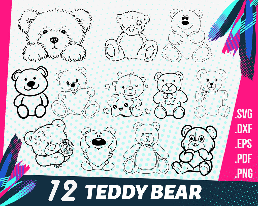 TEDDY BEAR SVG, bear svg, teddy bear, toy svg, teddy bear clipart, bear silhouette, bear clipart, cute bear svg, teddy bear vector, teddy