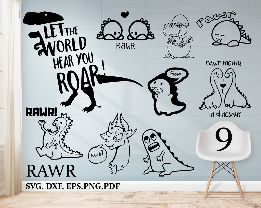 RAWR svg, cutting file, vinyl file, svg, dinosaur, cricut, t rex, dinosaur rawr, dinosaur svg, download