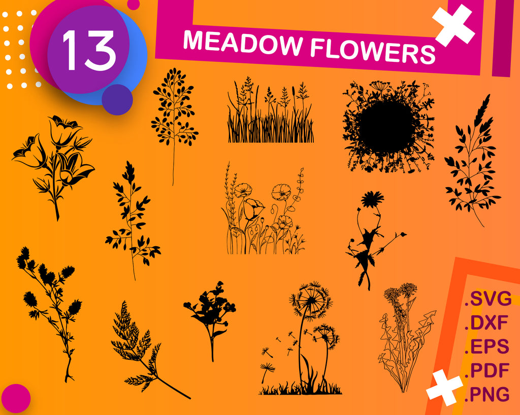 Meadow flowers svg, wild flowers svg, rain boots svg, dandelion svg, meadow svg, mothers day svg, wild flowers clipart, T-Shirt Svg, stencil
