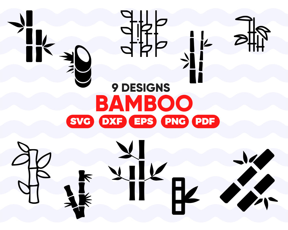 Bamboo SVG, bamboo, Stick, Leaf, Clip Art, Clipart, Design, Svg Files, Png Files, Eps, Dxf, Pdf, Silhouette, Cricut, Cut File, Vector file - .EPS .DXF .SVG .PNG .PDF