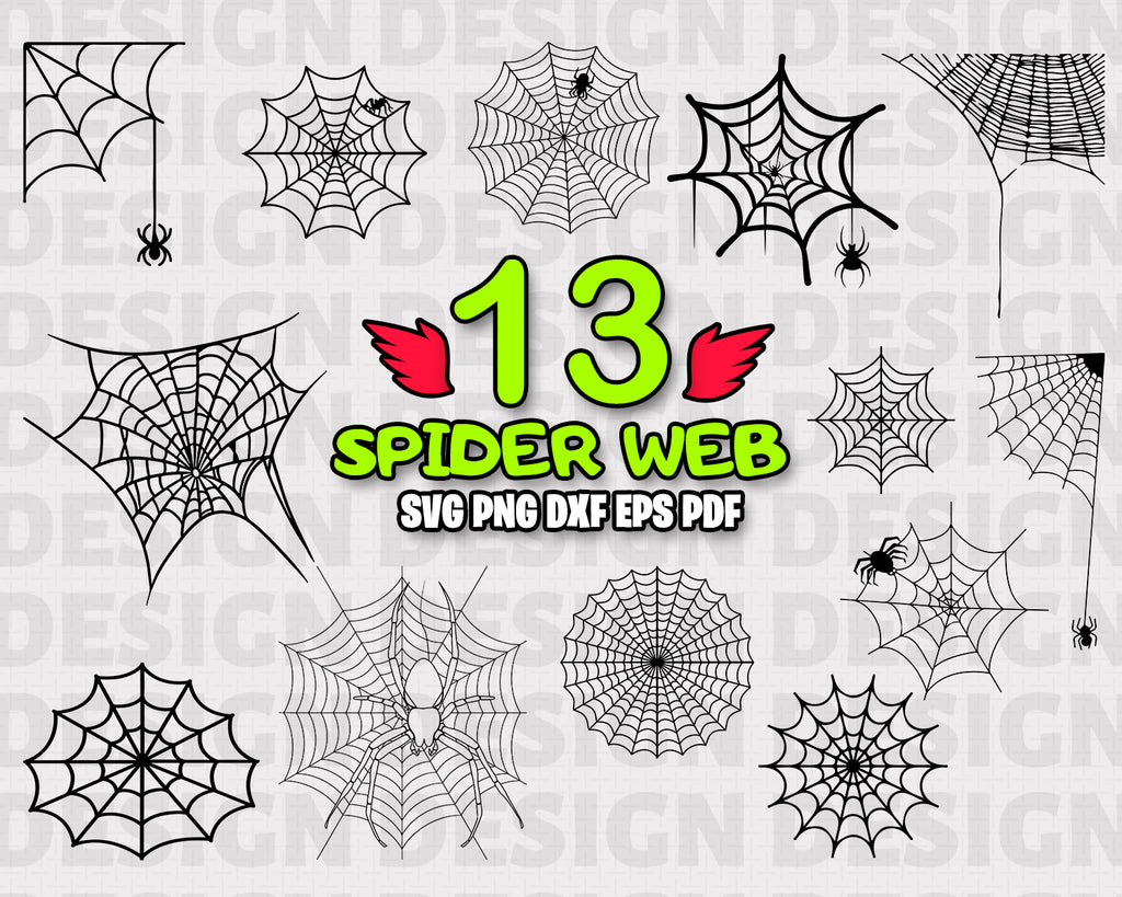 Spider web SVG / spider web svg / insect svg / cobweb svg / halloween svg / clipart / silhouette / decal / stencil/ cut file / cricut file / vinyl / instant download