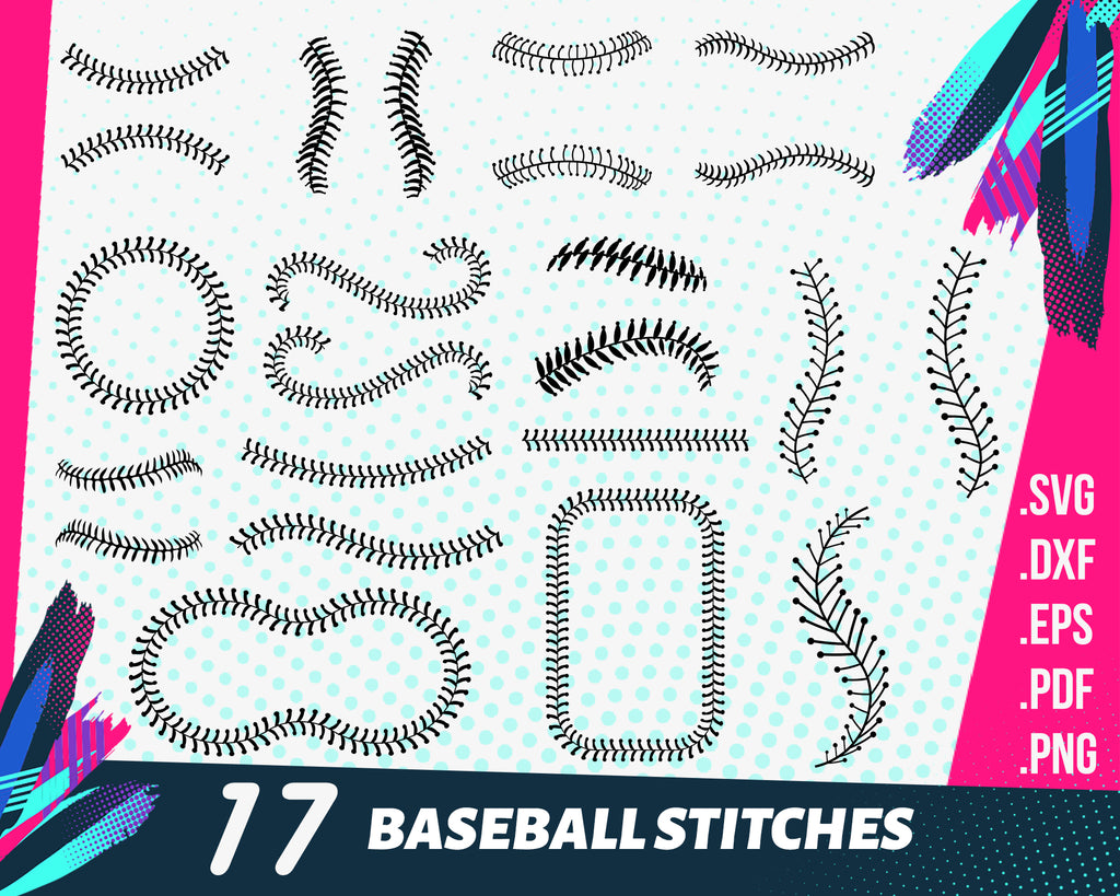 BASEBALL STITCHES SVG Bundle, Baseball Stitches Clipart Bundle, Baseball Stitches Bundle for Cricut