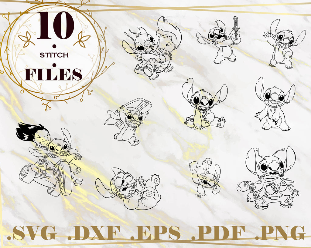 STITCH SVG, DXF, PNG, EPS, Cut File, Cartoon Characters, vinyl decal, Cricut Design, Silhouette studio, digital instant download