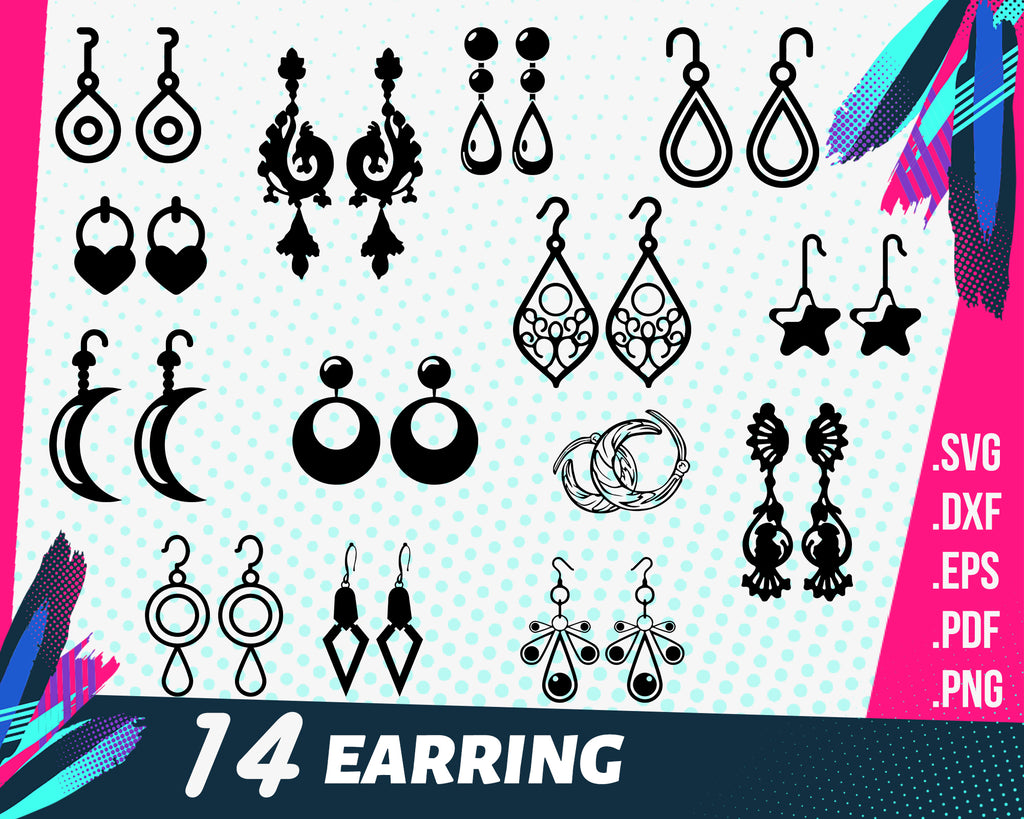Earring svg, Geometric Earrings svg, Earrings svg, Earrings bundle svg, Leather earring template svg, Earring set svg, Earrings cricut, Earring cards svg